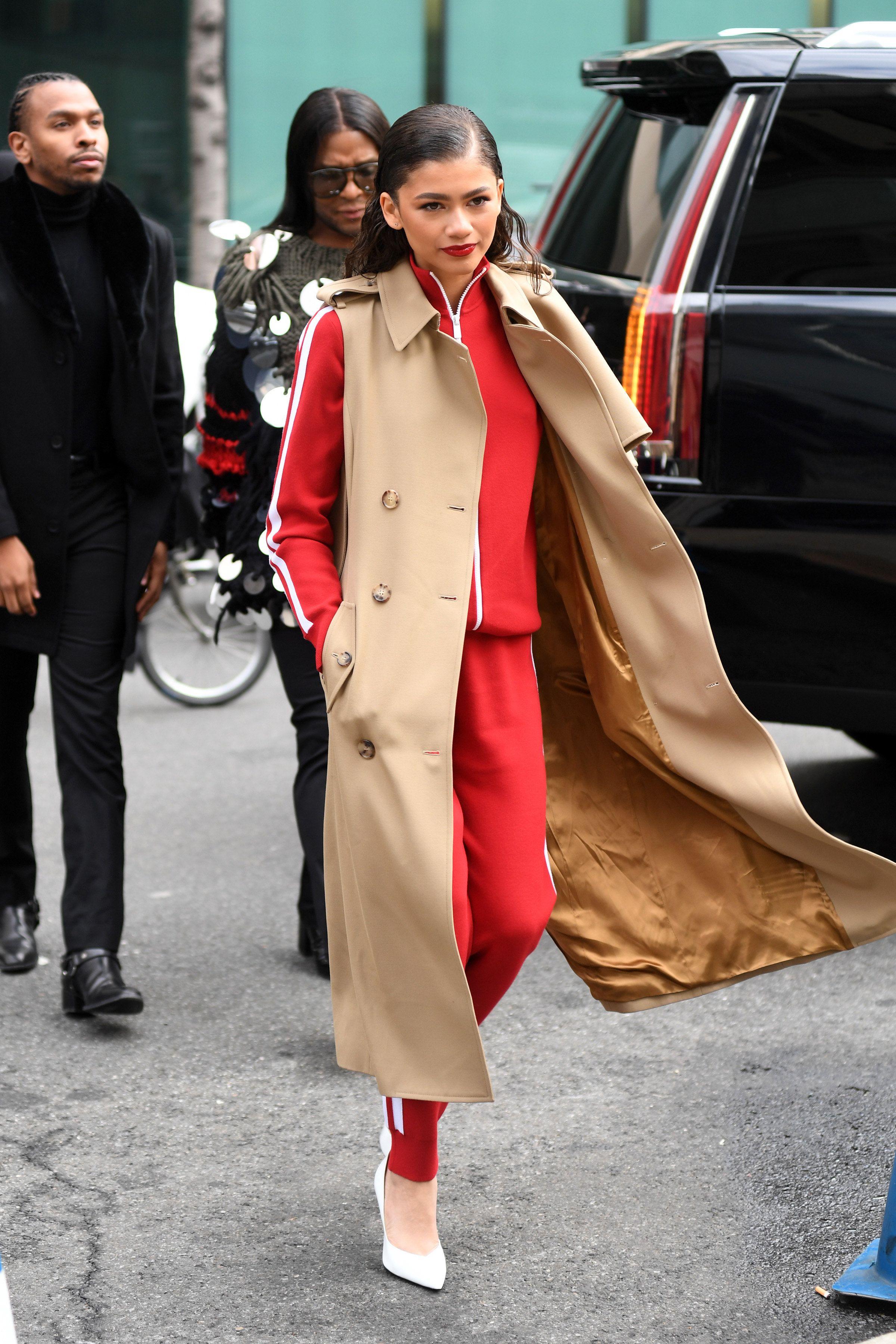 zendaya arrives at the michael kors show during the new york fashion rh pinterest com