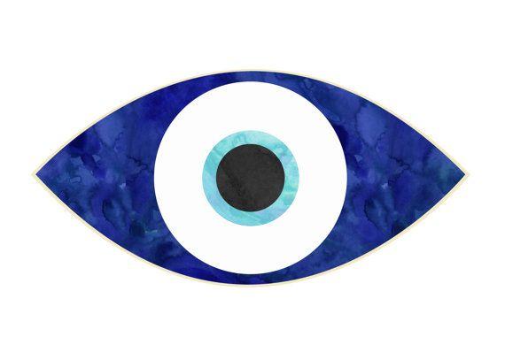 Evil Eye Print Instant Download Digital Downloaded Print Evil Eye Art Watercolor Evil Eye Evil Eye Art Evil Eye Tattoo Eyes Artwork