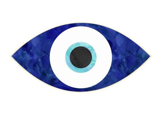 Evil Eye Print Instant Download Digital Downloaded By Jtpaperie