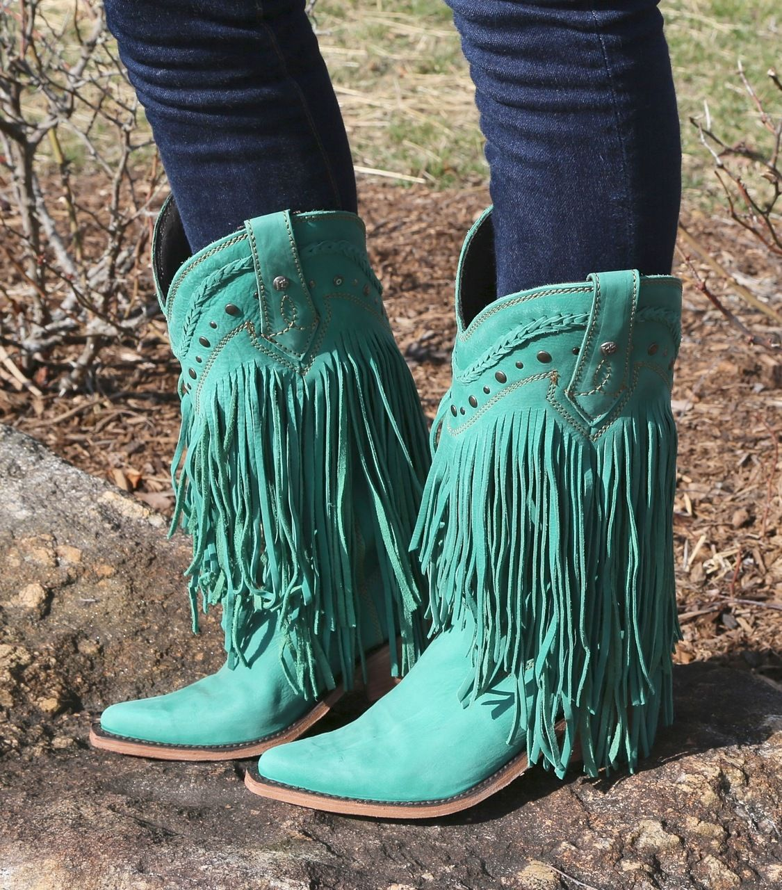 Liberty Black Vegas Fringe Boots Turqueza LB71124   Liberty, Boots ...