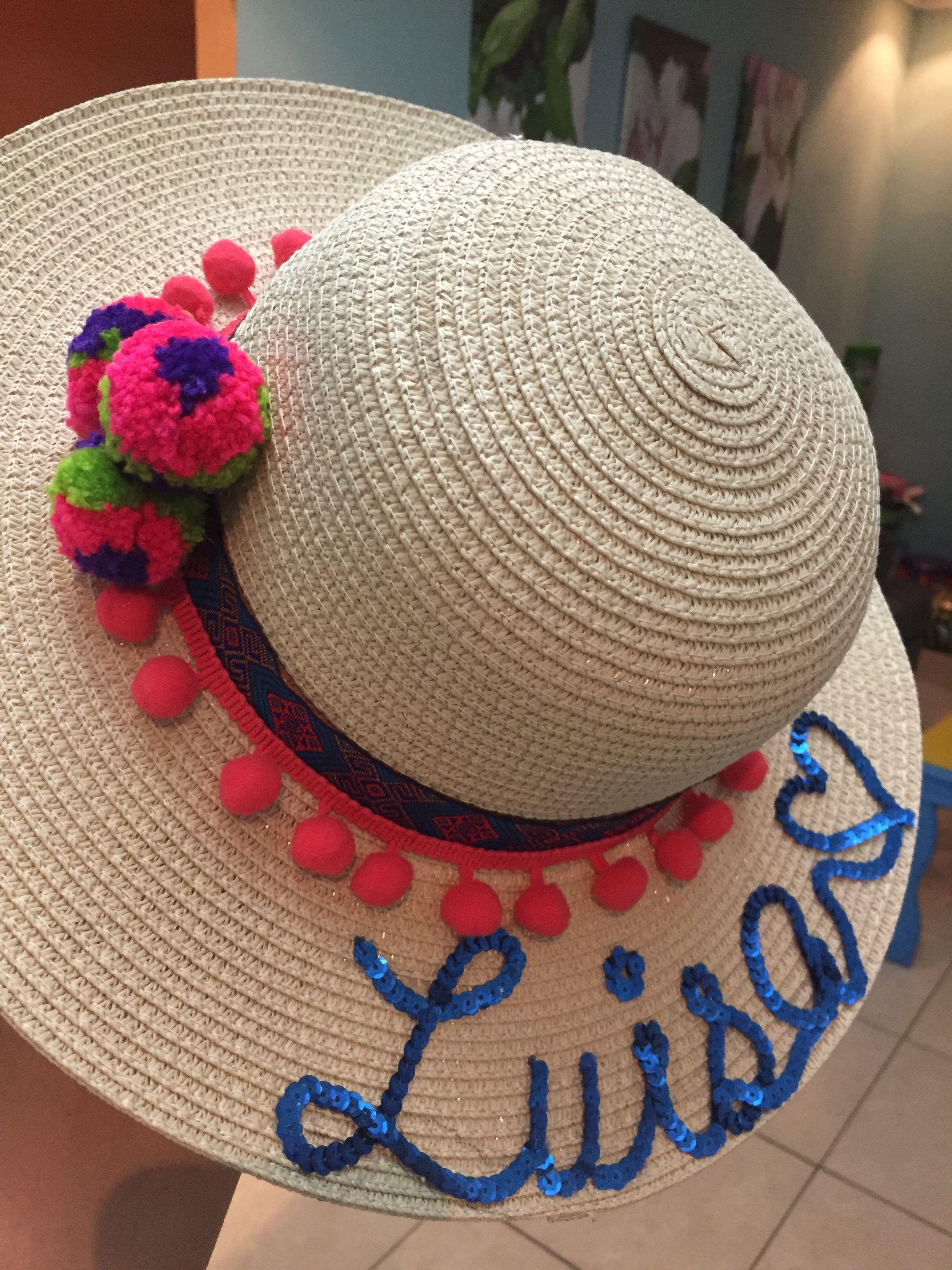 Sombreros personalizados By Stephanie Beitia Sombrero Playero fcbd73c3c9d
