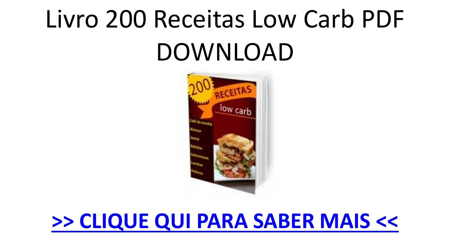 Livro 200 Receitas Low Carb Pdf Download Ebook Pptx Receitas