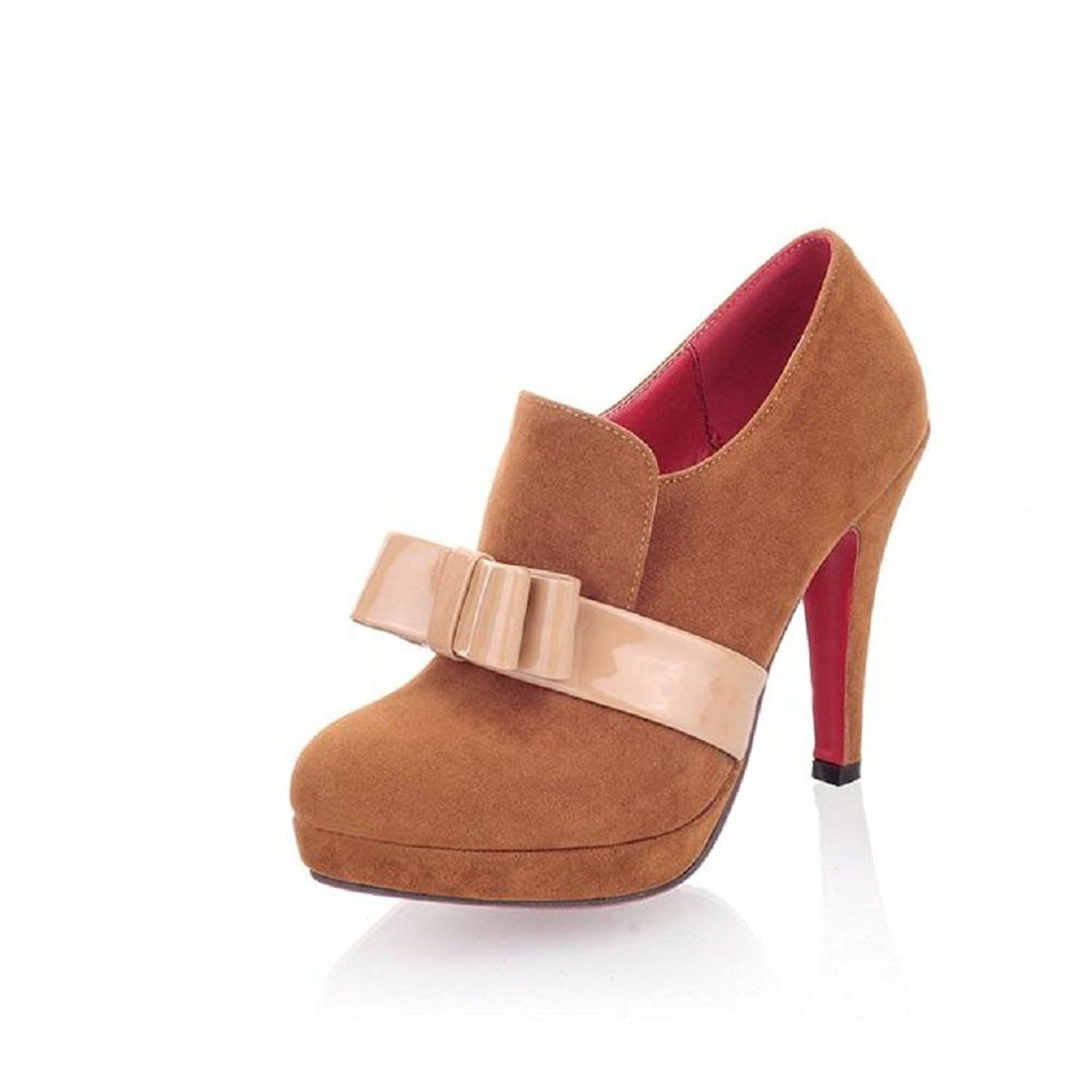 Women's Fashion Bows Platform High Heel Ankle Boots