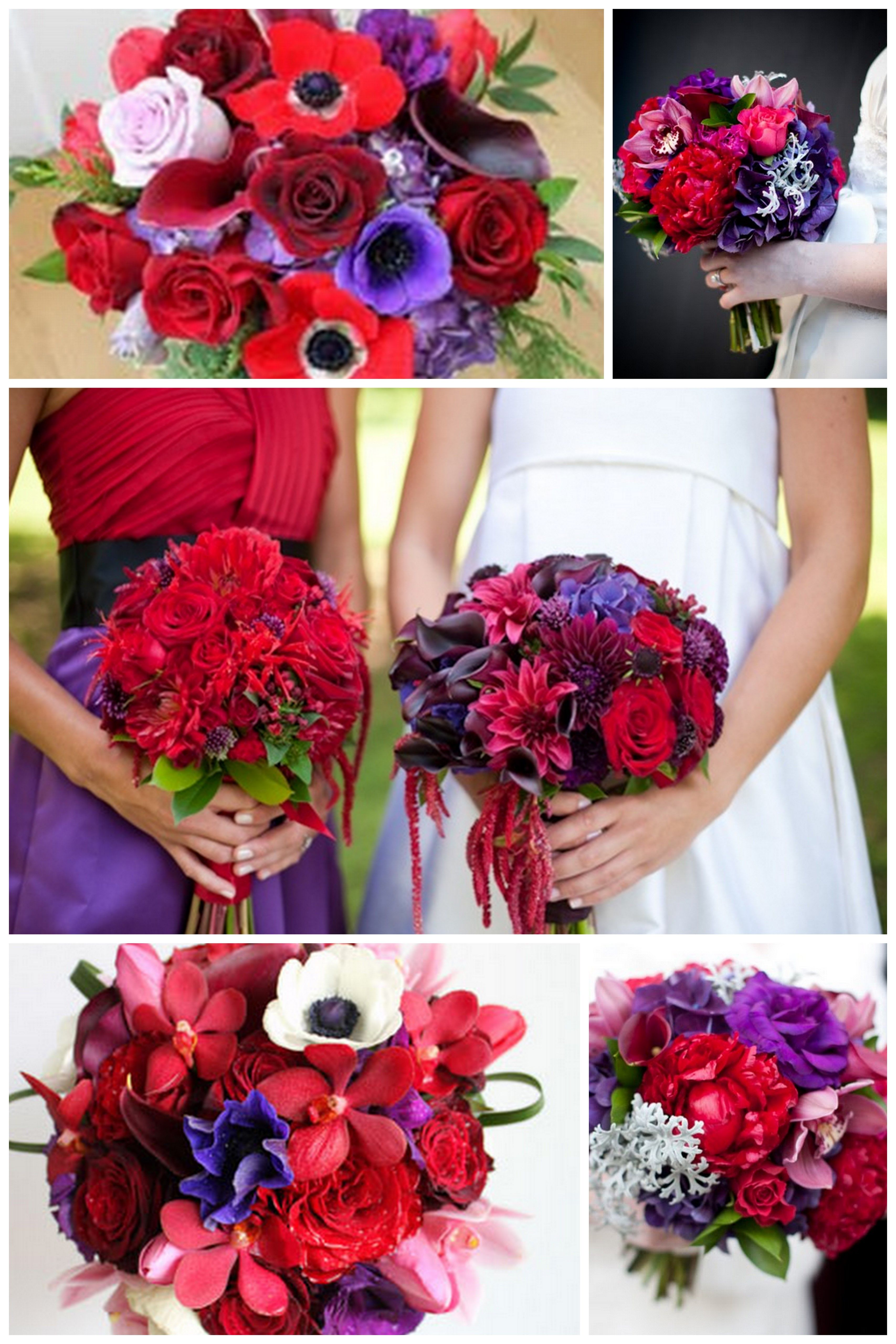 red-and-purple1.jpg 3,414×5,120 pixeles | Flores boda | Pinterest ...