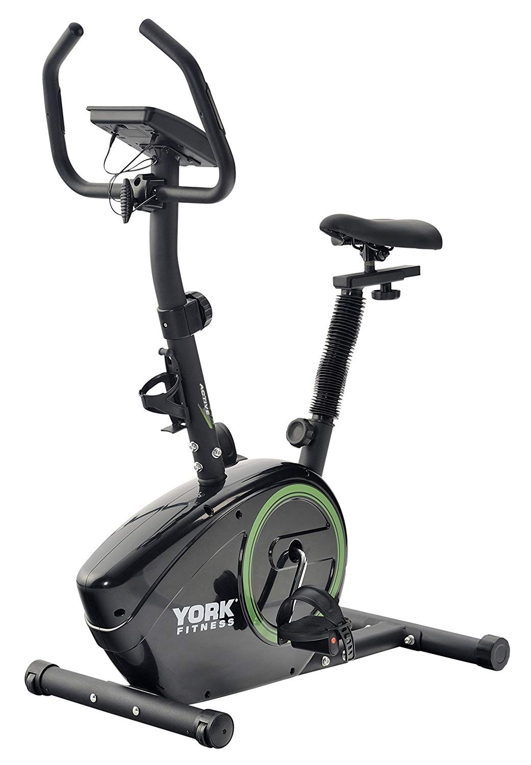 York Fitness Active 110 Exercise Cycle Black Green Amazon Co Uk