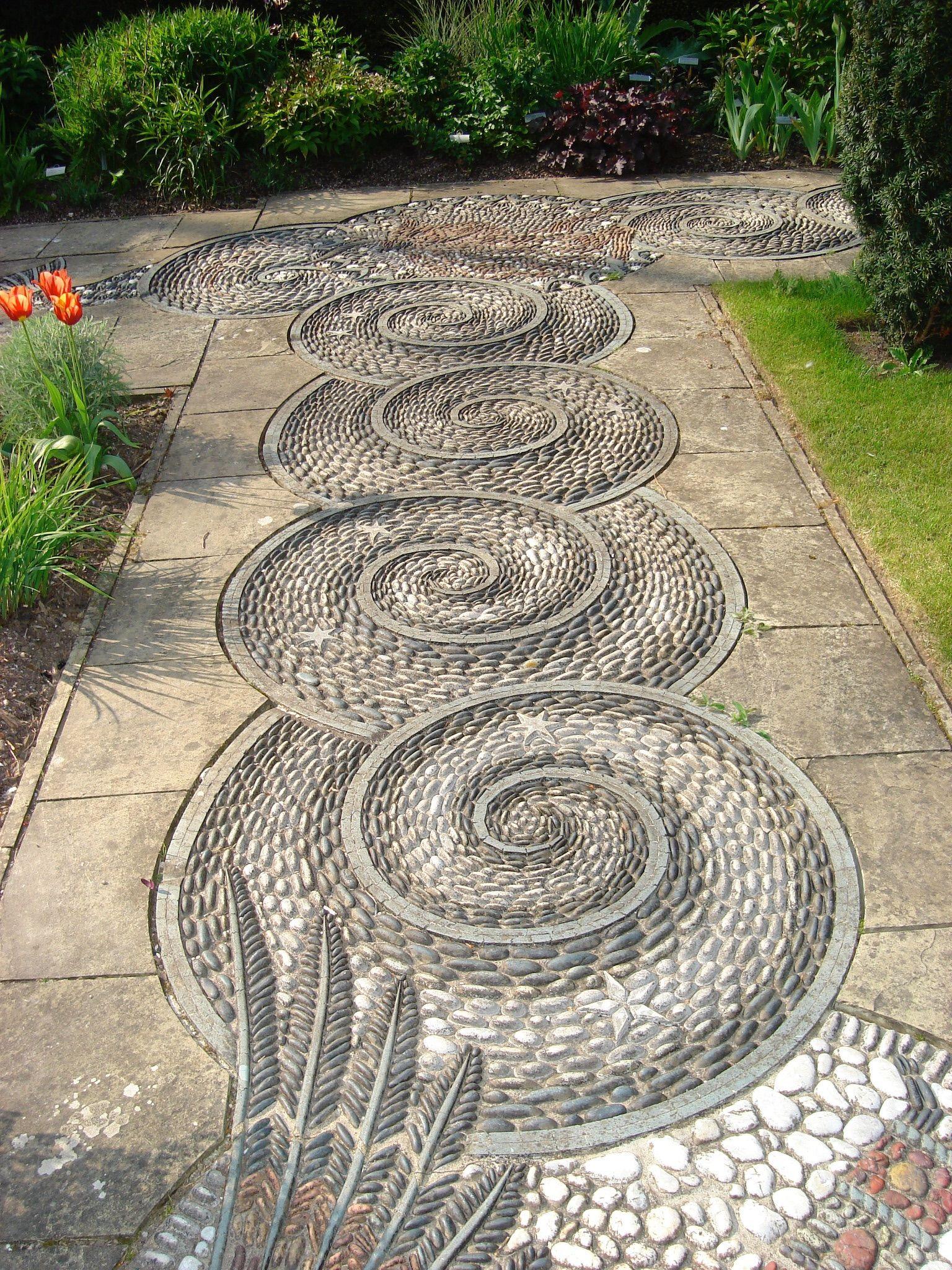 Mosaic Path At Gresgarth House Garten Gartengestaltung Gartenweg