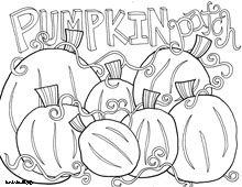 doodle art pumpkin patch this site has lot of creative coloring sheets - Free Pumpkin Coloring Pages Printable 2