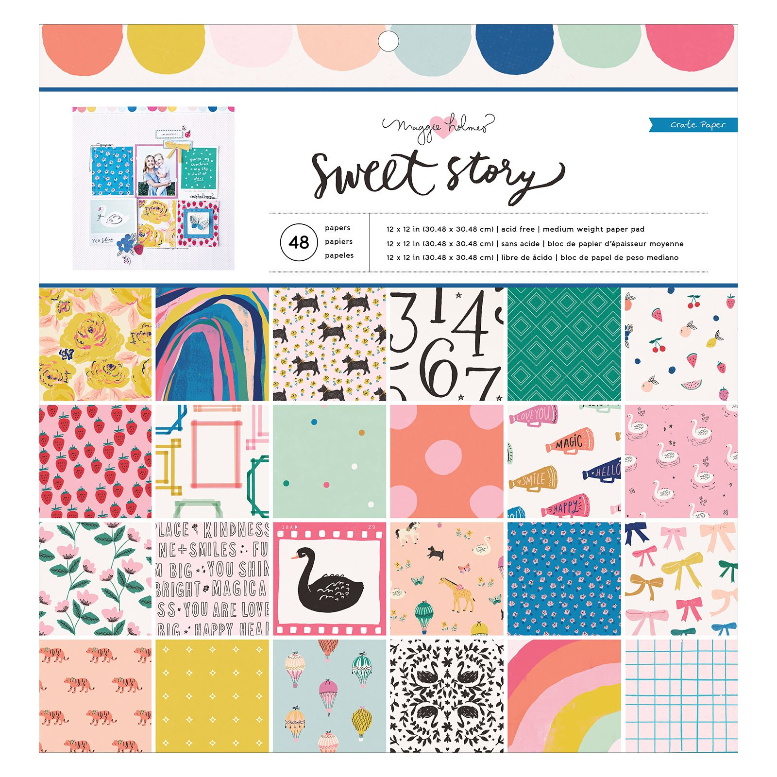 12-x-12-Inch Maggie Holmes 48 Sheets 12 x 12 Paper Pad