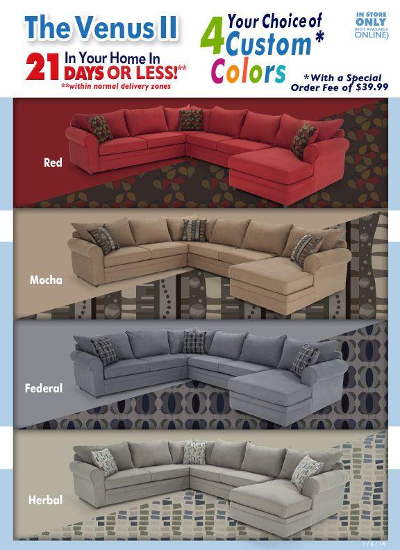 Venus Ii Special Order Colors Bob S Discount Furniture Bob S Discount Furniture Discount Furniture Family Room