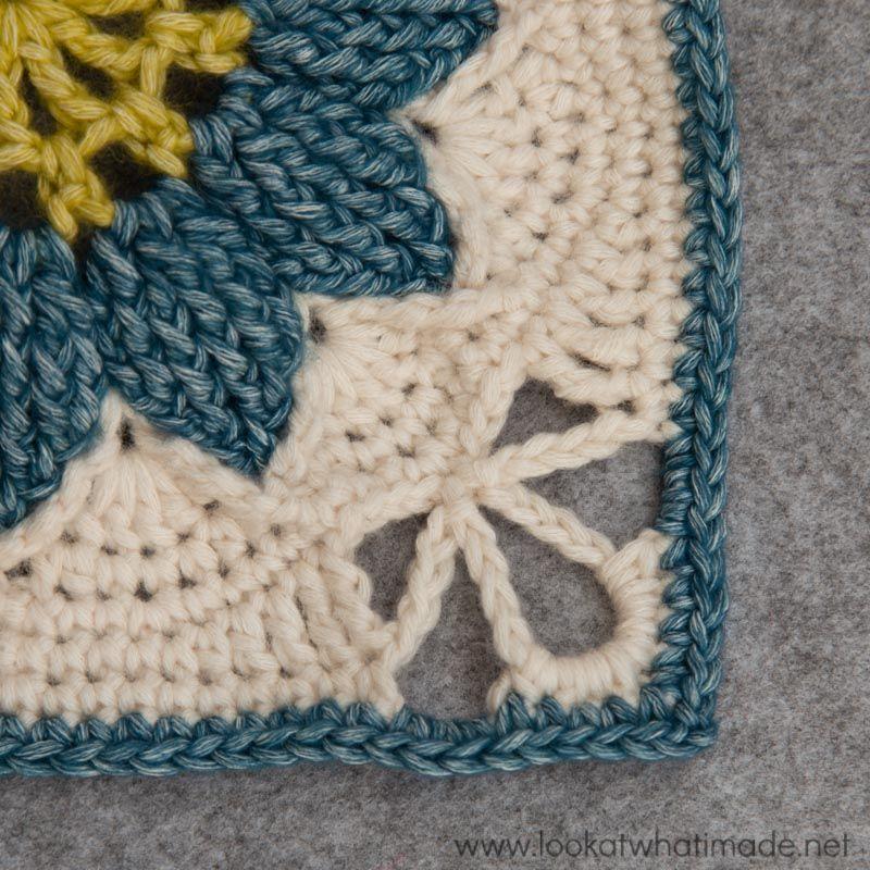 Large Crochet Square Charlotte | Crochet Blocks | Pinterest | Häkeln