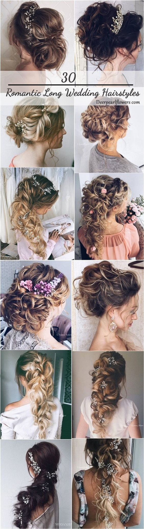 new romantic long bridal wedding hairstyles to try braids