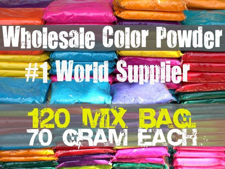 120 Assorted Individual Color Powder Packets Color Powder Packets