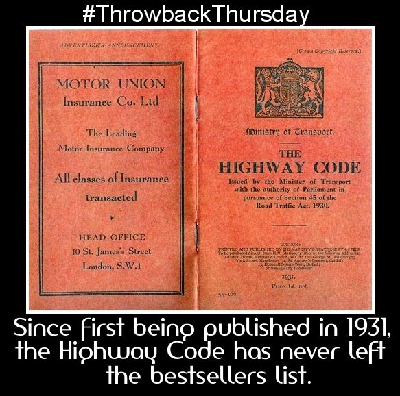 #ThrowbackThursday to 1931, when the first Highway Code was published. #driving #licence #drivinginstructor #car