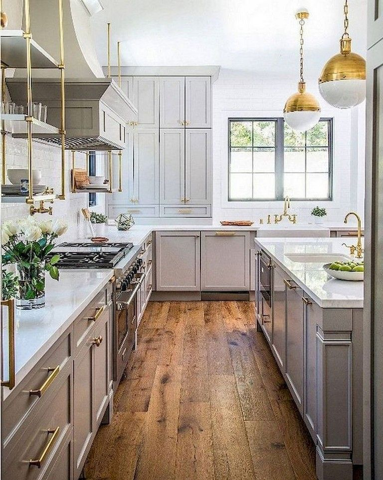 65 incredible farmhouse gray kitchen cabinet design ideas farmhouse graykitc in 2020 on kitchen cabinets farmhouse style id=39452