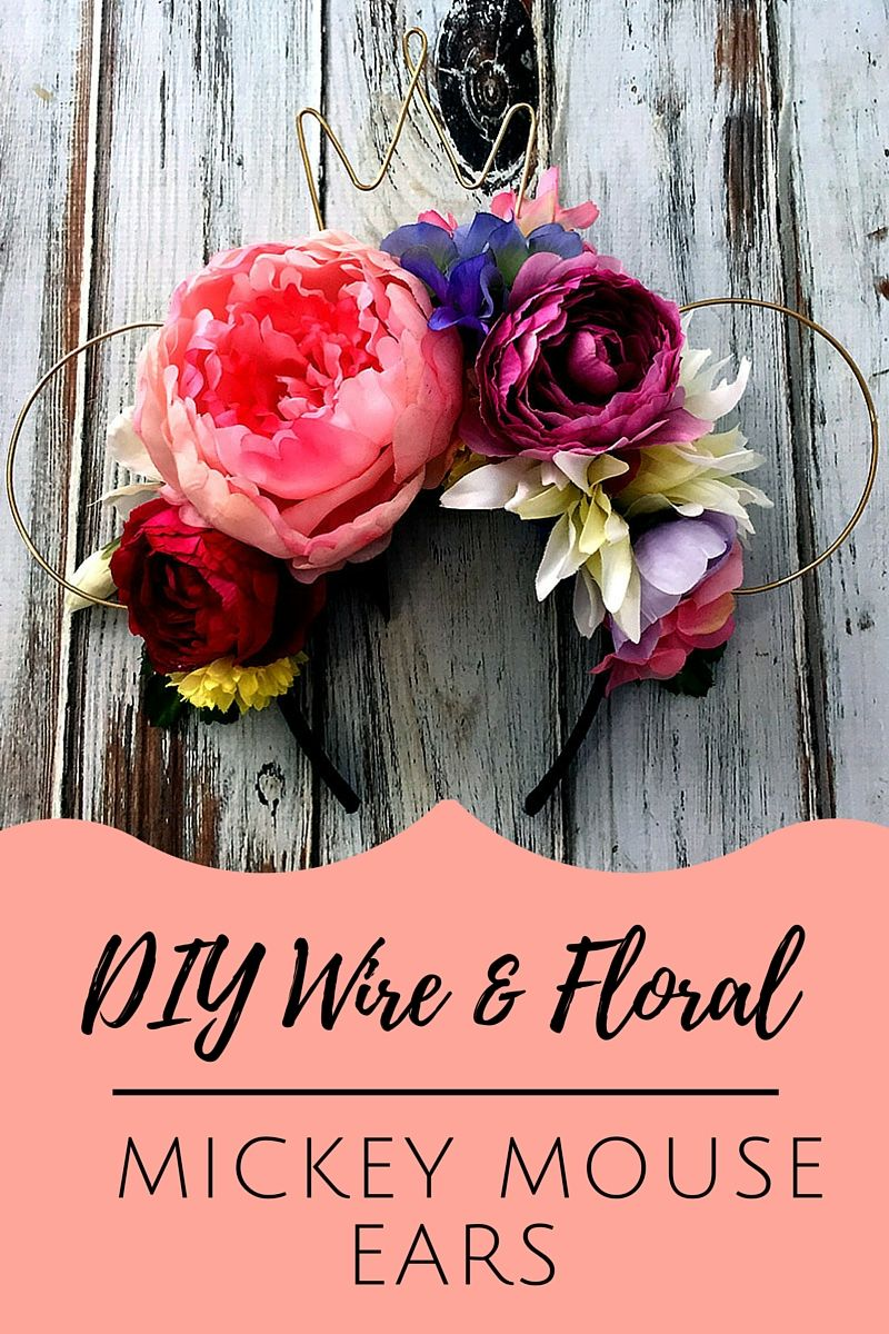 Diy wire floral mickey mouse ears craft diy pinterest diy wire floral mickey mouse ears izmirmasajfo