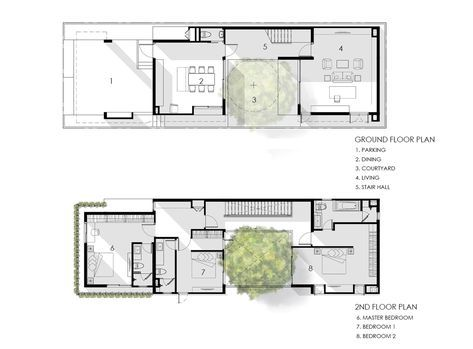Gallery Of I House Gooseberry Design 28 Narrow House Plans Architectural Floor Plans Floor Plans