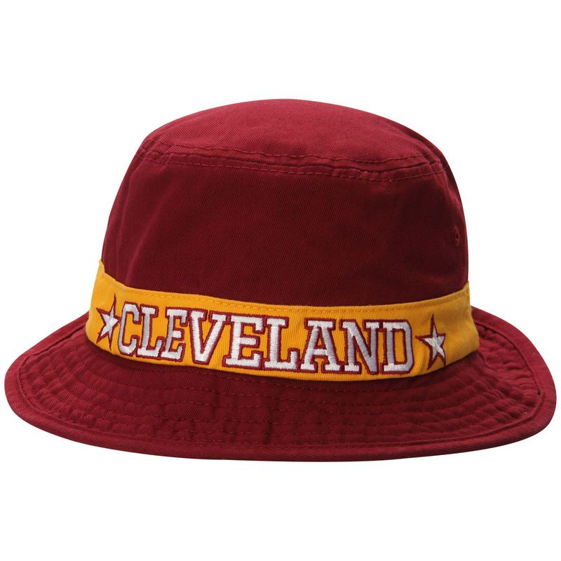 6a2aff92c4a ... authentic cleveland cavaliers adidas lifestyle bucket hat wine 4501a  1753a