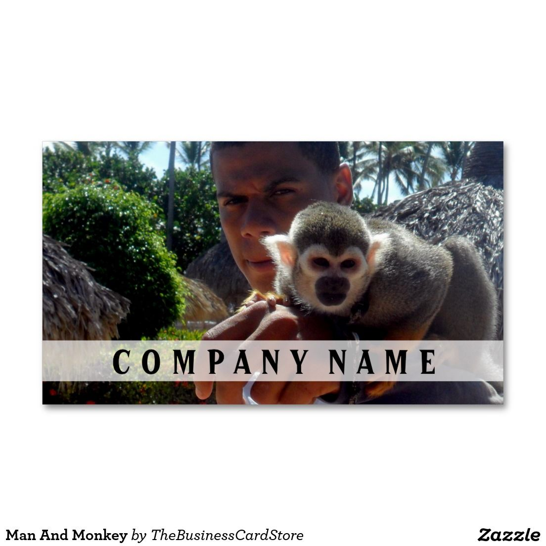 Man And Monkey Business Card | FACES AND FIGURES BUSINESS CARDS FROM ...