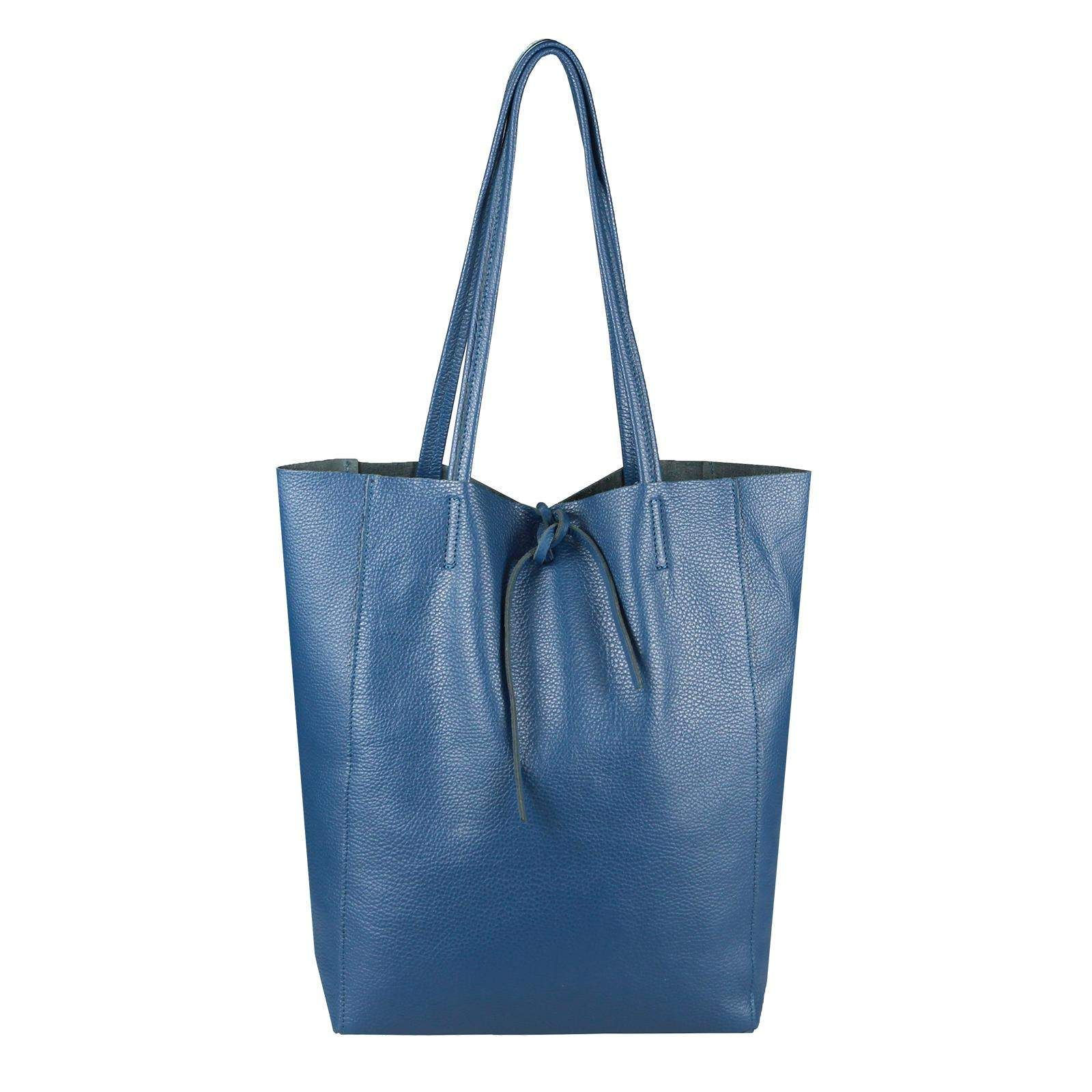 62c3a8fb5a3f1 Made in Italy DAMEN LEDER TASCHE DIN-A4 Shopper Schultertasche Henkeltasche  Tote Bag Metallic