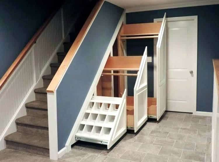 55 Creative Under Stairs Ideas Closet Storage Designs Staircase Storage Stairway Storage Understairs Storage