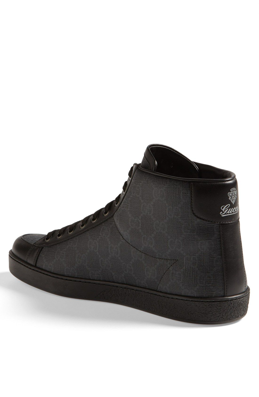 a286827b826 Free shipping and returns on Gucci  Brooklyn  Sneaker at Nordstrom.com. A  vintage-inspired brand imprint patterns a sharp sneaker trimmed with rich  leather.
