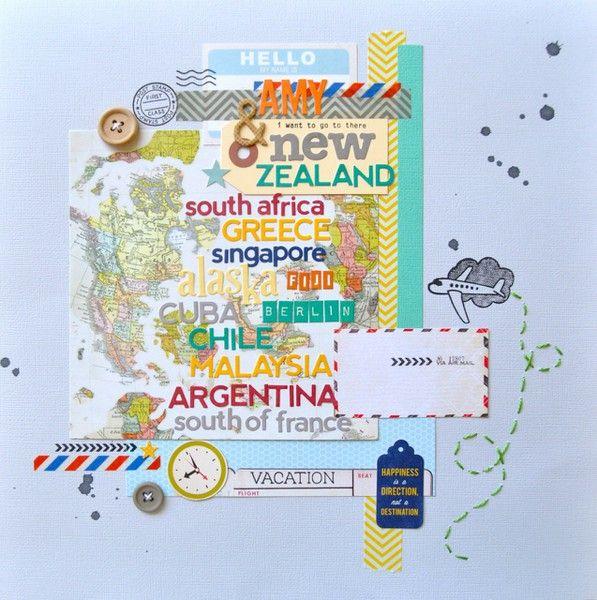 mapa com nomes de países...