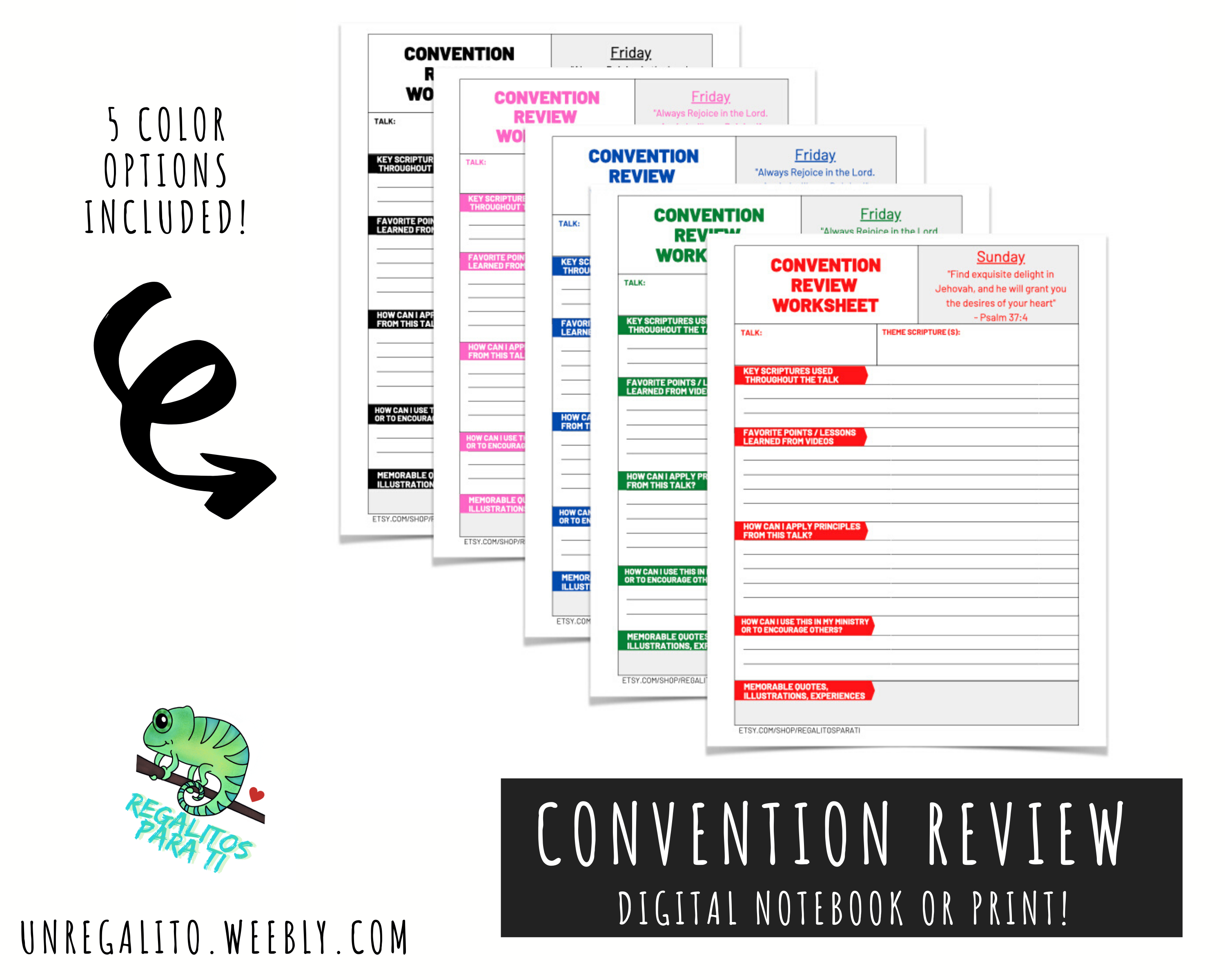Always Rejoice Convention Review Worksheet Instant
