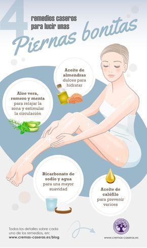 Remedios caseros para lucir unas piernas más bonitas