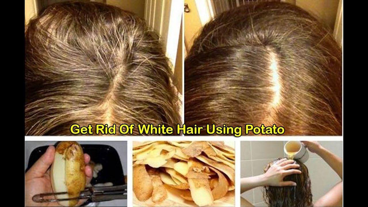 Potato Peel: Get Rid Of Gray Hair Permanently  #beautytips  #solution