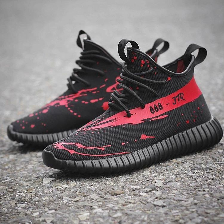 8ad9bd13c9f Custom Jack the Ripper Yeezy Boost 650 Blood splatter print all over the  shoe and bloody stripe 350- SPLY.  InRipperWeTrust  yeezymoonrock   yeezypirateblack ...