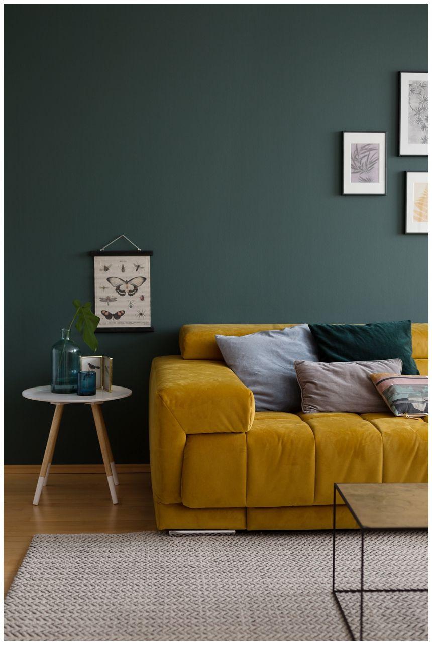 Abenteuer Farbe - Ein Wohnzimmer in Grn I | Interior ...