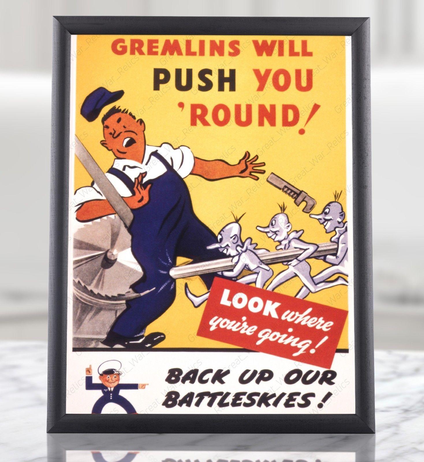 WW2 US Food Administration Propaganda Poster WWII American Print Framed Unframed