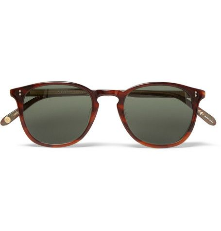 1ec0910172 Garrett Leight California Optical Kinney Round-Frame Tortoiseshell Acetate  Polarised Sunglasses