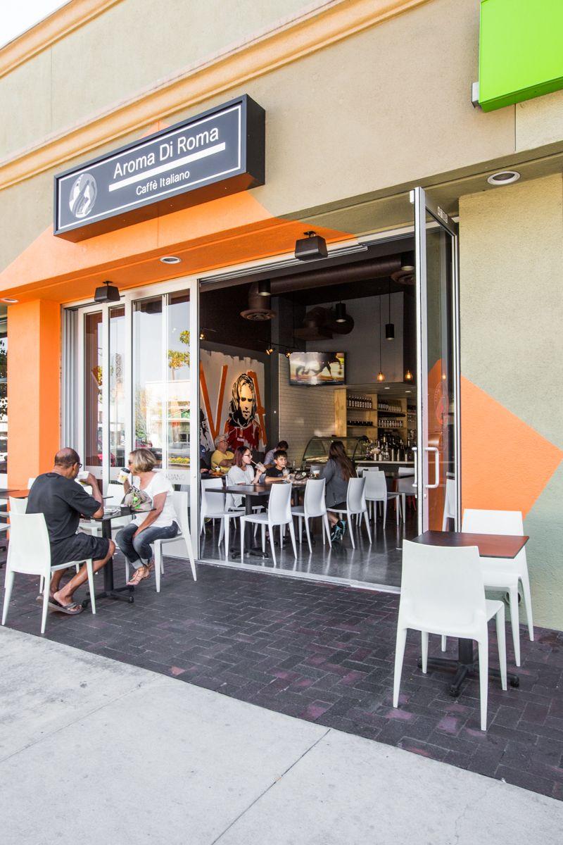 Aroma Di Roma In Long Beach Ca Designed By Flo Design Studio Coffee Cafe Restaurant Design Design Interior Design Design Inspi Design Design Studio Flo