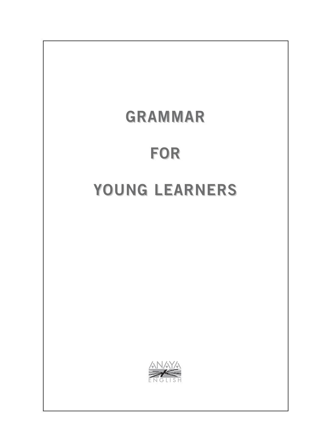 Grammar For Young Learners Grammar Learners Digital Publishing
