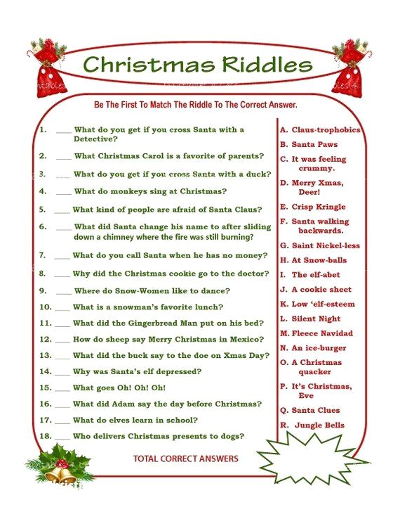 Christmas Party Games 2020.Diy Christmas Party Ideas Christmasdiy Christmas Riddles