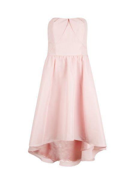 Dropped hem dress - Light Pink   Dresses   Ted Baker