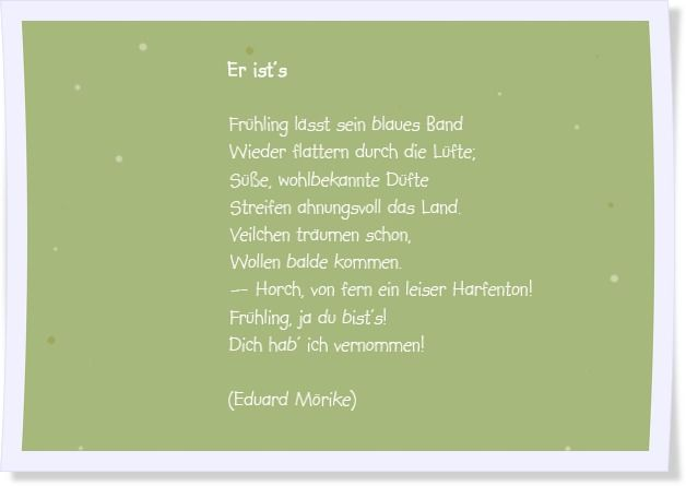 Frühlingsgedichte Gedichte Frühlingsgedicht Gedichte