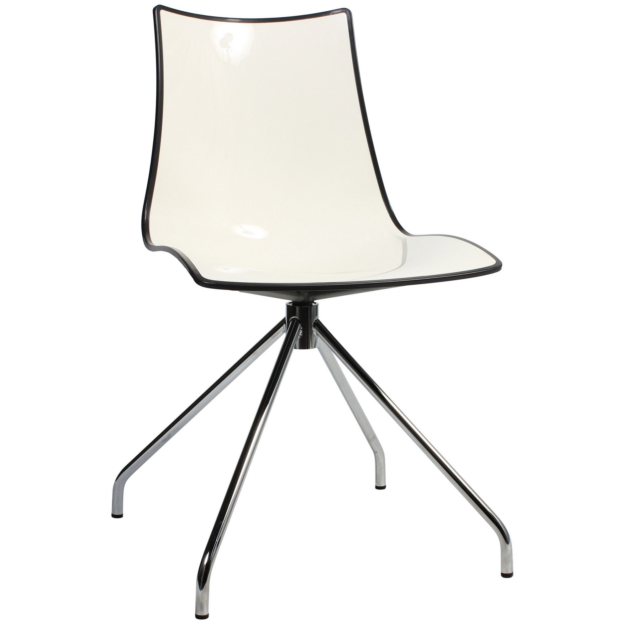 Zebra Bicolore Italian Made Commercial Grade Dining Chair Trestle  # Salon De Jardin Zebra