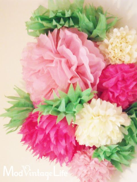 tissue paper flowers, beautiful as an aisle runner