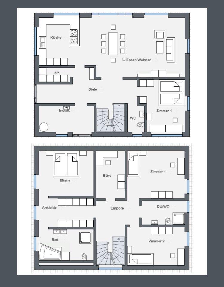 Stadtvilla modern grundriss  Grundriss Stadtvilla modern | Grundrisse | Pinterest | Grundriss ...