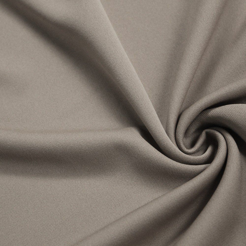 Light Taupe 60 Solid Stretch Scuba Knit Fabric
