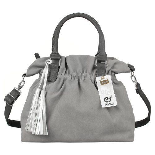 Ecosusi Faux Suede Large Tassel Drawstring Top Handle Handbag Soft Hobo Shoulder Bag (grey) Ecosusi Online Shopping to see or buy click on Amazon here http://www.amazon.com/dp/B00F6IDAV2/ref=cm_sw_r_pi_dp_d3-Ktb0MA1N4BTHT