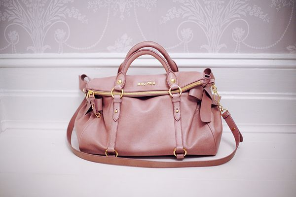 Dusky Rose Miu Bow Satchel Bags