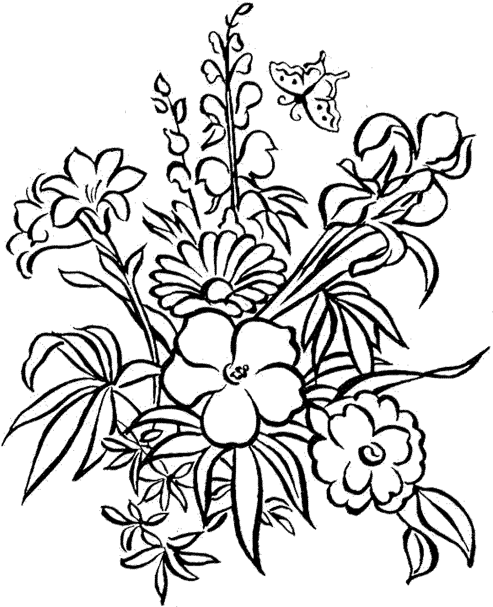 Coloring Pages] Good-looking Flower Coloring Pages For Adults ...