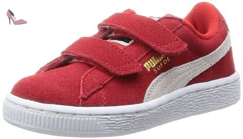 Puma, Sneakers Basses mixte enfant, Rouge (High Risk Red/White),