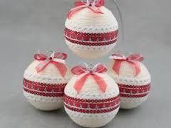 Znalezione Obrazy Dla Zapytania Bombka Ze Sznurka Jutowego Christmas Bulbs Christmas Decorations Christmas Ornaments