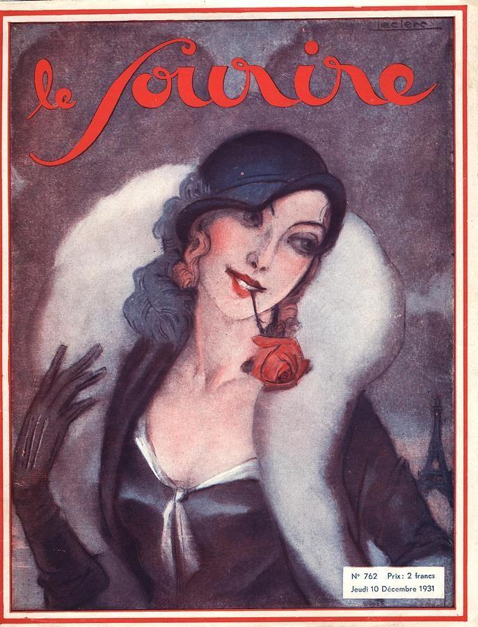 Le Sourire 19311930s France Portraits Drawing