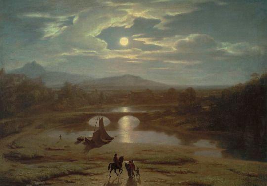 Washington Allston, Moonlit Landscape, 1819
