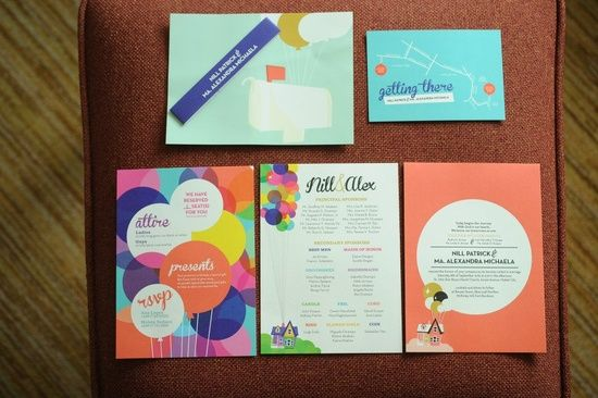 """Up Themed Wedding Invitations: Beautiful """"Up"""" Themed Wedding Invites! I Wish You Could"""